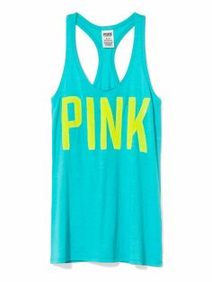 Victoria's Secret PINK Bling Tank! I Love The Bright Color!