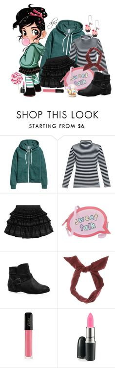 """Vanellope"" by dgia ❤ liked on Polyvore featuring H&M, Orcival, Faith Connexion, Sophia Webster, Avenue, Guerlain, MAC Cosmetics and Sweet & Co."