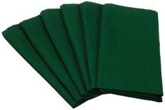"Amazon.com - DII 100% Cotton, Oversized Basic Everyday 20x 20"" Napkin, Set of 6, Dark Green - Cloth Napkins #AmazonCart #DII #DesignImports"