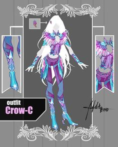 CLOSED Adoptable Auction: Outfit Crow-C by Hassly.deviantart.com on @DeviantArt