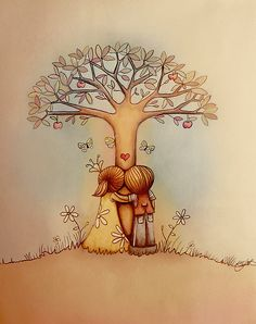 """underneath the apple tree"" by Karin Taylor 