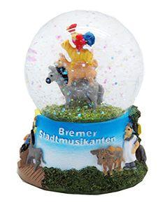 Snow Globe German Fairytales Bremer Stadtmusikanten Musicians from Bremen