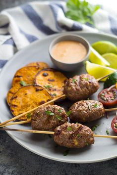 Up your ground beef game with these Thai spiced beef koftas with coconut sauce!  Ready in 30 minutes!