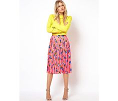 Summer Styles Under $100: Chic florals like this skirt are work-appropriate but can also work for events like wedding showers and happy hours. #SelfMagazine