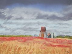St Benet's Abbey pastel 'This is my favourite place to paint' KRW