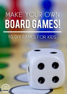 Make your own board games #kids #games #craft