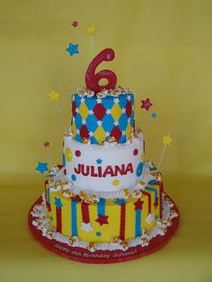 Carnival-Circus Themed Birthday Cake by CakesUniqueByAmy.com, via Flickr