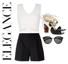 """""""Untitled #108"""" by myriamsarah on Polyvore featuring Yves Saint Laurent, Proenza Schouler and BCBGMAXAZRIA"""