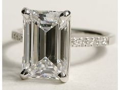 Petite Cathedral Pavé Diamond Engagement Ring in 18k White Gold #BlueNile