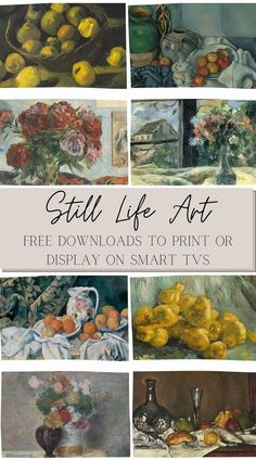 All of the pros and cons about the Samsung Frame TV and how to add art, plus free downloadable still life art to display on a TV.