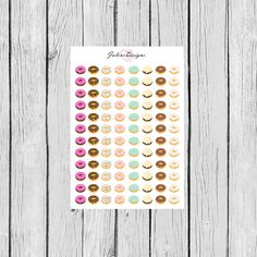 Hey, I found this really awesome Etsy listing at https://www.etsy.com/listing/227559143/donut-planner-sticker-sheet-eri-condren