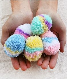 How to Make Easy Easter Egg Pom-Poms