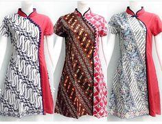 Blouse Batik, Batik Dress, African Fashion Dresses, African Dress, Traditional Fashion, Traditional Outfits, Dress Batik Kombinasi, Batik Kebaya, Batik Fashion