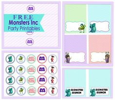 Free printable monster inc cupcake toppers disney pinterest a girly monsters inc party free party printables filmwisefo