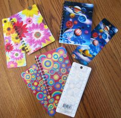 Lenticular/3D notebooks and bookmarks with ruler on back, at Dollar Tree!! Bookmarks similar to these are $5 at other stores. Some have a hole to add a tassel or ribbon, if you want.