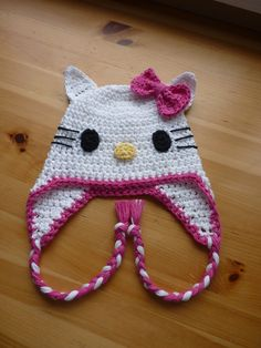free crochet sheep hat pattern | Crochet Kitty Hat