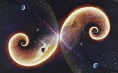 INFINITUDE by Sean Yarbrough  >>> SPY-ART.COM <<<  #spyart #seanyarbrough #seanyarbroughart #visionary #visionaryart #art #artist #artwork #space #time cosmic #astro #galaxy #mandala #nebula #stars #planets #birth #death #end #beginning #chakras # infinity #spiral #fib #fibonacci #helix #human #skull