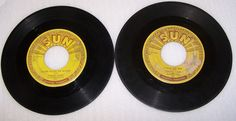 Johnny Cash Original Sun 45 RPM I Walk The Line Luther Played the Boogie Two 45s #EarlyCountryHonkyTonk