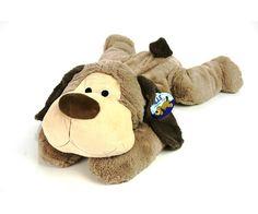 Pluche hond of beer liggend, 70 cm