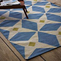 Ankara Wool Dhurrie | west elm #rugs