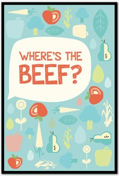 Where's the Beef Poster by DelineDesign on Etsy, $16.00