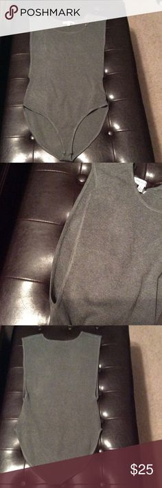 NWT Gray deep side bodysuit Gray bodysuit with deep side cuts; new with tags hera collection Other