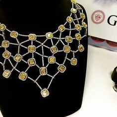 YELLOW DIAMONDS Neckless. We love this one! Would wear it with an open neck long…