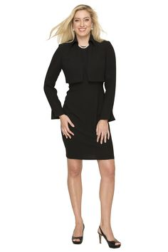Black Cocktail Dress With Bolero Jacket by Designed by Susanna Beverly Hills #fallpreviewblackbolerojacketwornoverblackdress #fallcocktailwear #susannabeverlyhillsfallpreview #blackcocktaildresswithbolerojacket   http://susannabh.com/fashionblog/black-cocktail-dress-with-bolero-jacket-by-designed-by-susanna-beverly-hills/