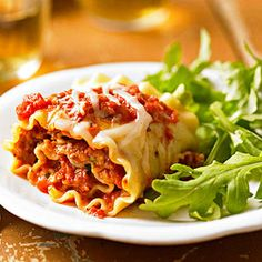 Lasagna Rolls al Forno From Better Homes and Gardens, ideas and improvement projects for your home and garden plus recipes and entertaining ideas.