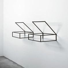 Minimalist Glass Shelf Storage Designs from Ron Gilad
