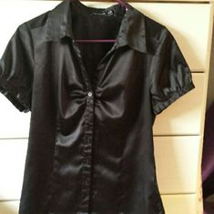 Cute silky satin the limited Great with jeans button up silky smooth good condition like new Tops Blouses