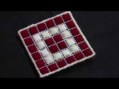 How to make Plastic Canvas Tissue Box Cover & Coasters - YouTube