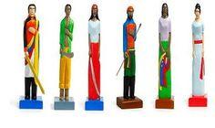 """Tallas de madera """"flacas"""" ingenuas. Artesanía popular"""