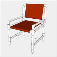 Standard PVC   Dirning Chair - Free PVC Furniture Plans
