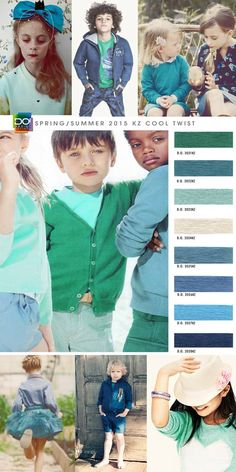Spring Summer 2015, boy's and girls, children's color trend report, cool twist