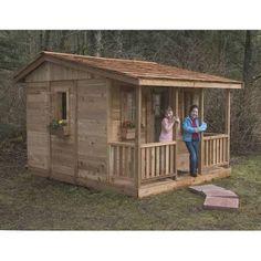 7 x 9 Cozy Cabin Playhouse - CCP97