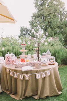 Rustic candy bar display