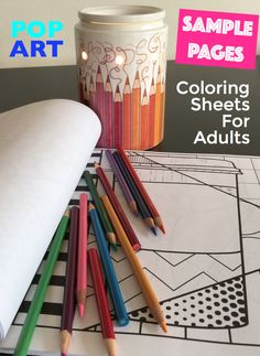 FREE Adult Pop Art Coloring Pages Top 10 reasons why adults need