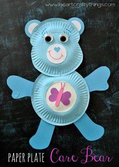 DIY Children's : DIY Paper Plate Care Bear