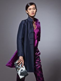 Shanghai Tang. Black jacket silk and cotton blend | Sasha Voropaeva