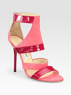 Baby needs a new pair of shoes!  Jimmy Choo Besso Suede & Patent Leather Sandals
