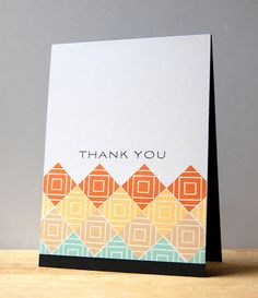 Square Prints Thank You Card by Cristina Kowalczyk for Papertrey Ink (January 2013)