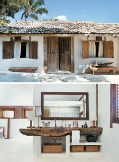 home decor - Brazilian Beach House Tour House Design, Rustic House, House Interior, Rustic Chic, Chic Beach House, Beach House Tour, House, Home, Interior