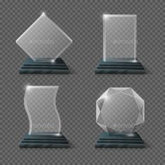Buy Empty Glass Trophy Awards Vector Set by MicrovOne on GraphicRiver. Glossy transparent trophy for award illustration Glass Trophies, Wood Mirror, Aesthetic Wallpapers, Empty, Royalty Free Stock Photos, Awards, Objects, Graphic Design, Frame