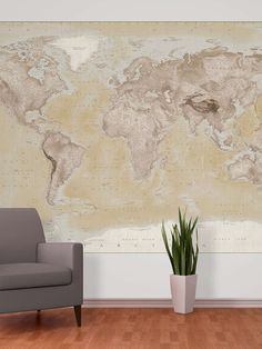 Colorful world map wall mural map wall mural by 1wall at gilt gumiabroncs Gallery