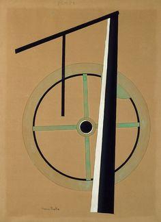 Francis Picabia, Pompe, 1922, Aquarelle et gouache sur carton, 76 x 56,5 cm, Montage conçu par Picabia : 90 x 56,5 cm. Paris, Centre Pompidou.