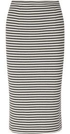 Tibi Elsa striped stretch-jersey pencil skirt