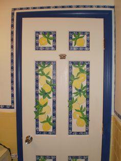 Door of the lemon bathroom House Art, Lemon, Doors, Bathroom, Frame, Home Decor, Bath Room, Homemade Home Decor, Bathrooms