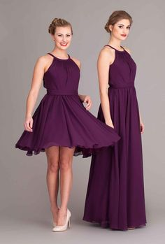 The short one in navy blue for the bridesmaids :)