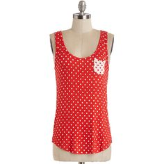 Tank top (2 thick straps) Anytime Is Right Top by ModCloth ($25) ❤ liked on Polyvore